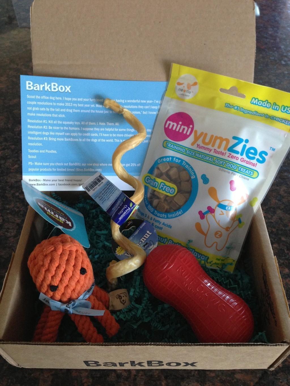 BarkBox Review + Coupon Code – January 2013