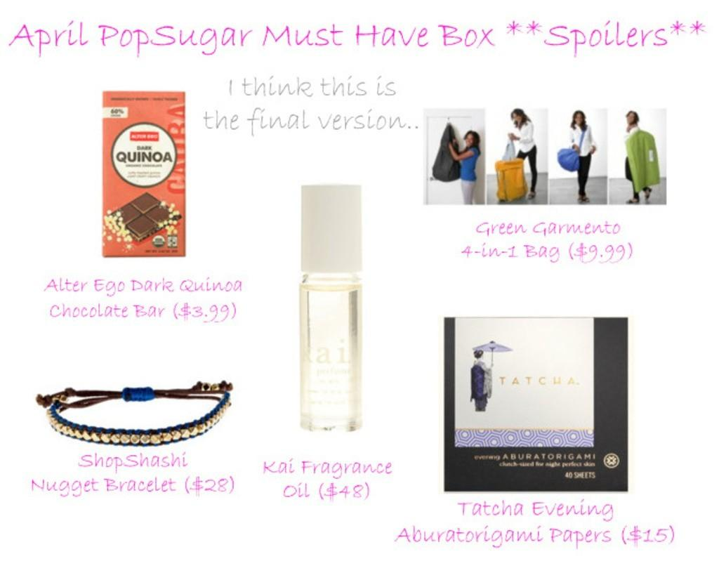 April PopSugar Must Have Box Spoilers