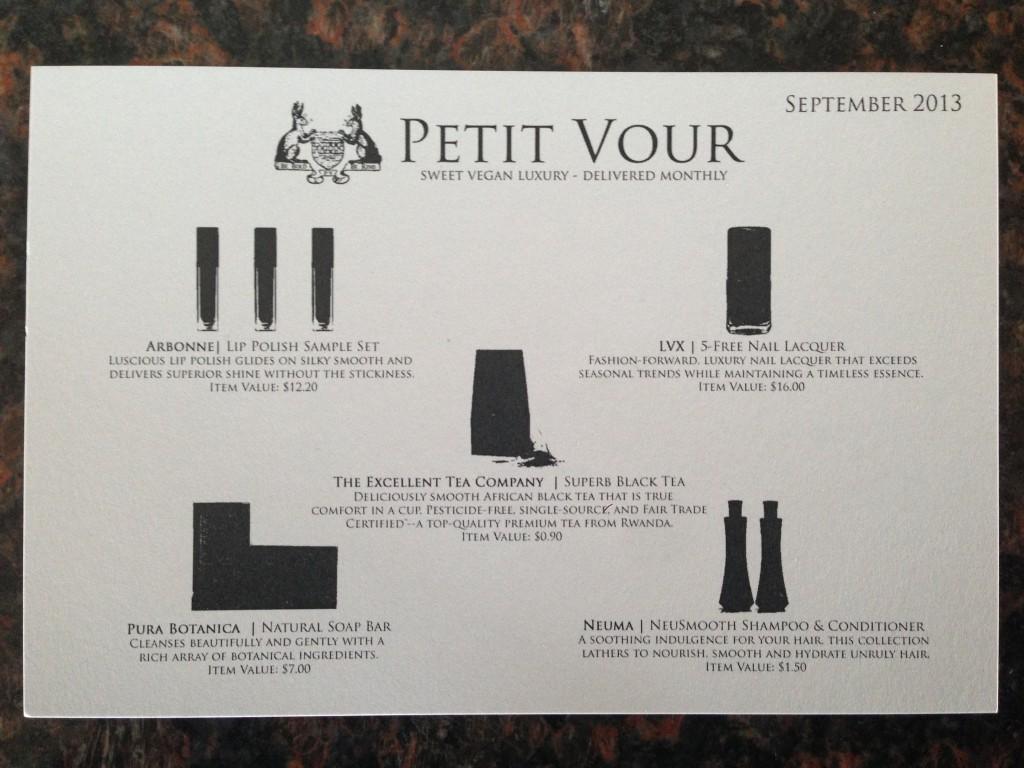 September Petit Vour