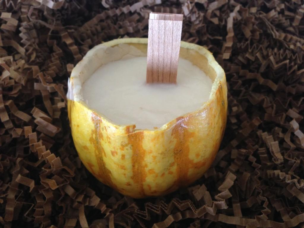 Gourd Candle Making - The Results