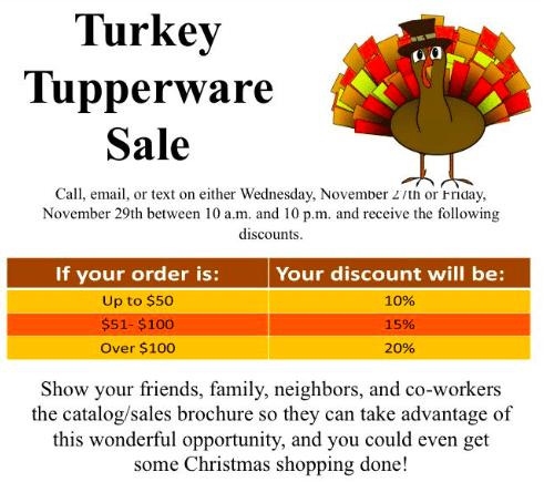 Tupperware Sale!