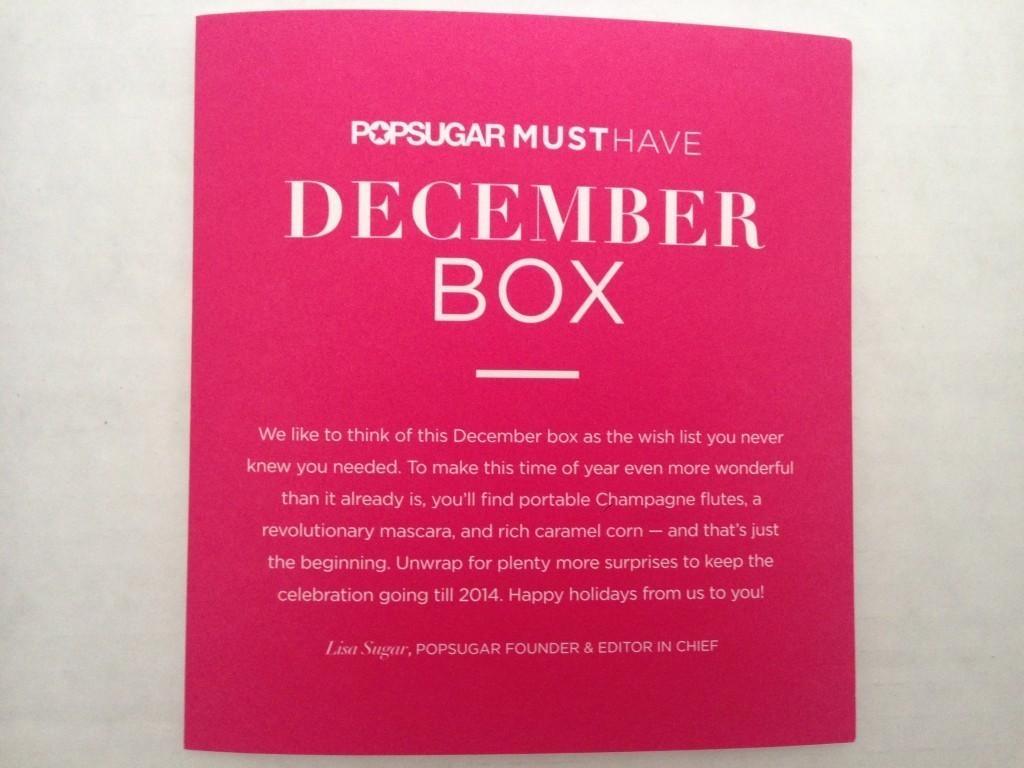 December PopSugar Must Have Box