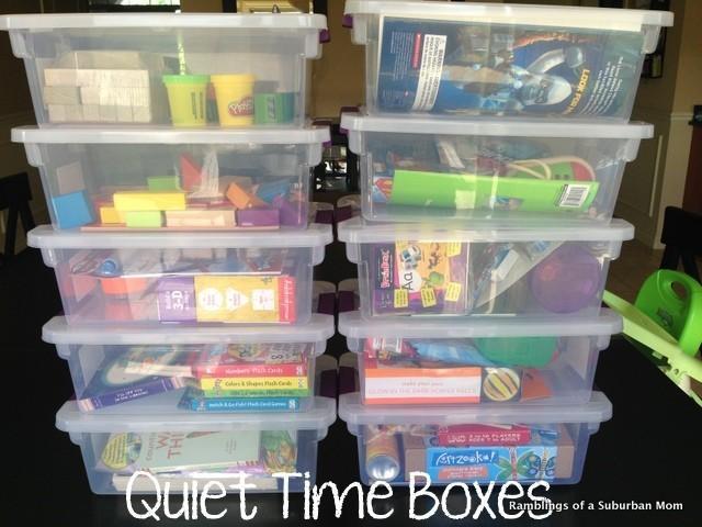 Quiet Time Boxes