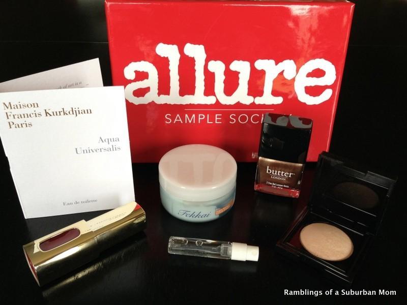 July 2014 Allure Sample Society Review - Subscription Box Ramblings