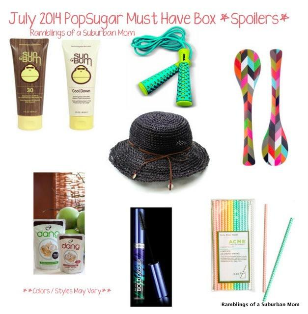 July 2014 PopSugar Must Have Box Spoilers