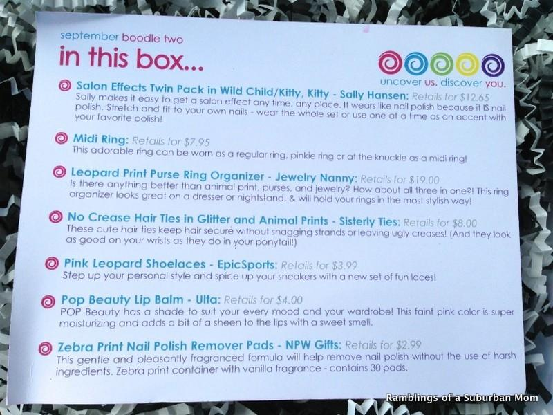 August 2014 The Boodle Box