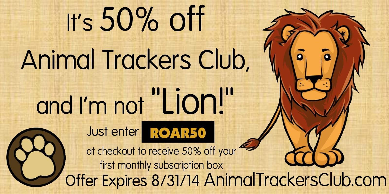 Animal Trackers Coupon Code