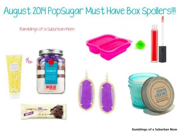 August 2014 PopSugar Must Have Box Spoilers