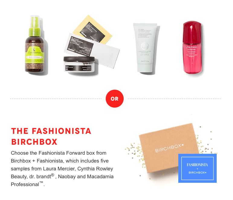 September 2014 Birchbox  Options