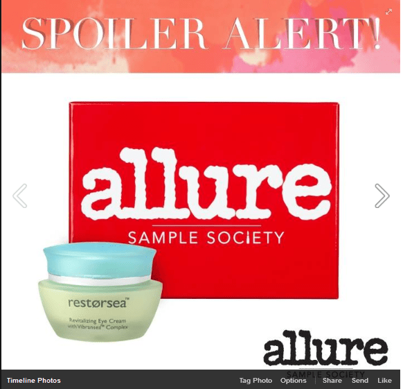 September Allure Sample Society Spoiler