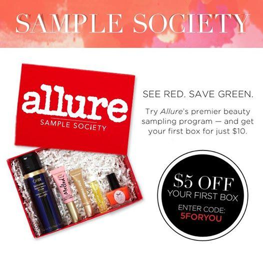 Allure Sample Society Coupon