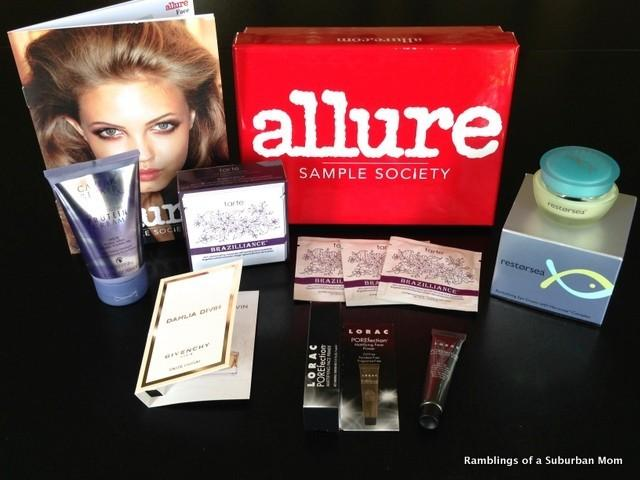 September 2014 Allure Sample Society Review - Subscription Box ...