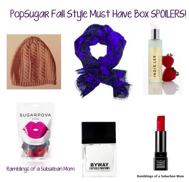 PopSugar Must Have Box Fall Style Spoilers