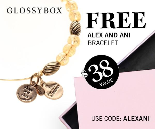 GLOSSYBOX Free Alex and Ani Gift With Purchase!
