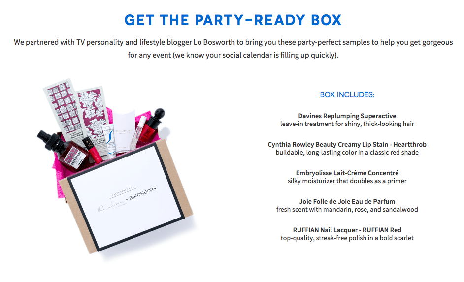 Get The Party-Ready Box