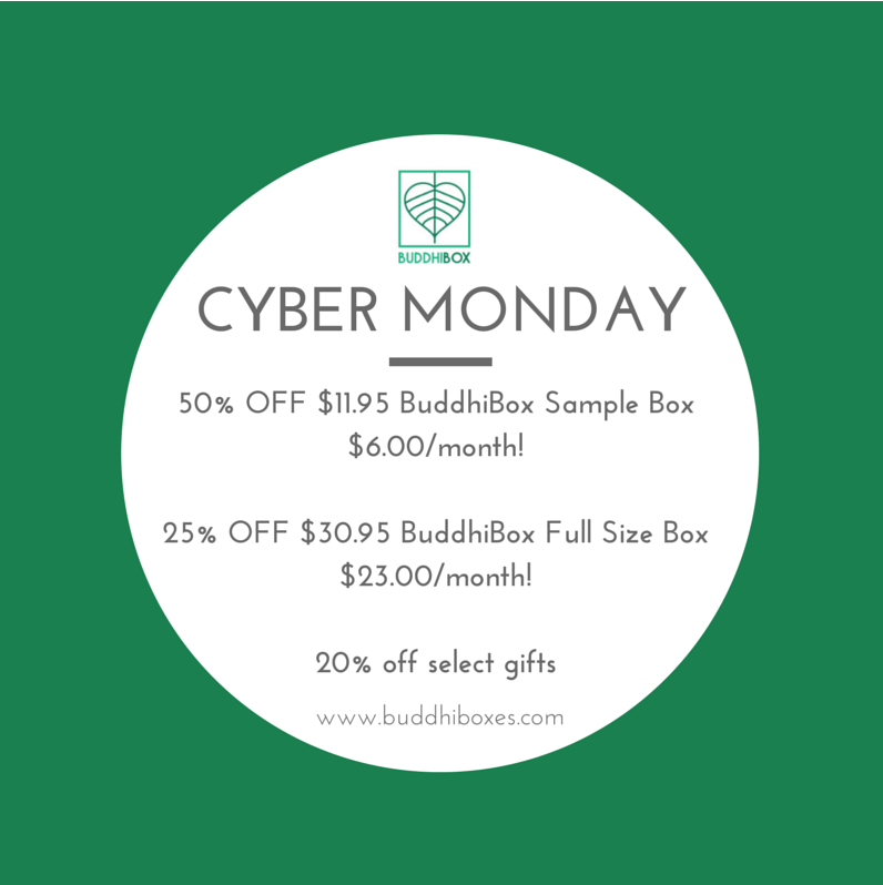 BuddhiBox Cyber Monday