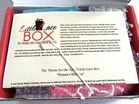 Little Lace Box March 2015 Subscription Box Review