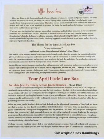 Little Lace Box April 2015