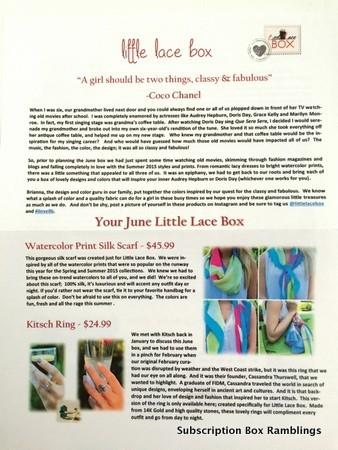 Little Lace Box June 2015 Review + Coupon Code