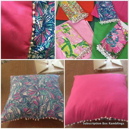 Lilly for Target Napkins into Pillows
