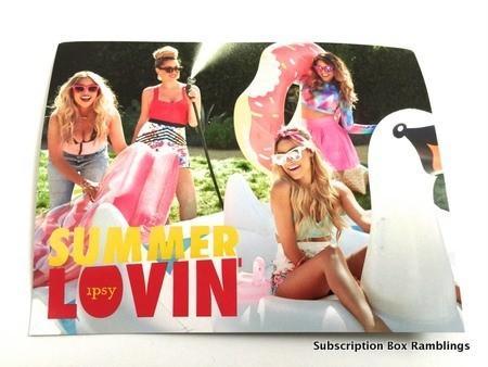 """ipsy July 2015 Subscription Review - """"Summer Lovin'"""""""