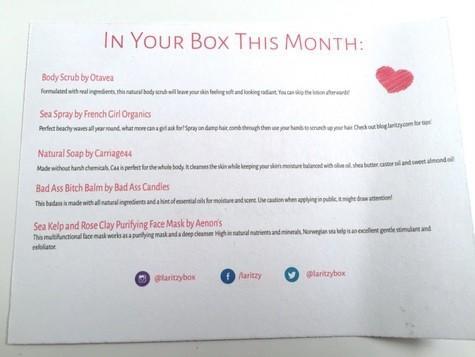 La Ritzy August 2015 Subscription Box Review