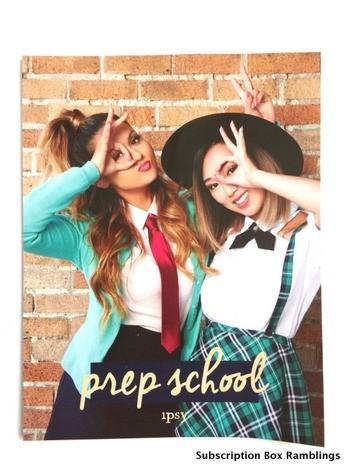 "ipsy August 2015 Subscription Review - ""Prep School"""