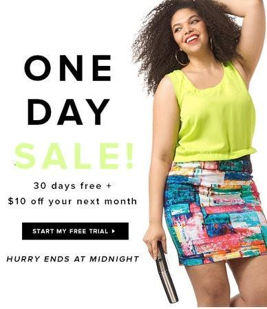Gwynnie Bee Free 1-Month Trial + $10 Off Your Second Month!