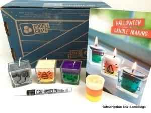"""Doodle Crate Review + Coupon Code – """"Halloween Candle Making"""""""