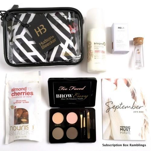 POPSUGAR Must Have Box Review + Coupon Code – September 2015