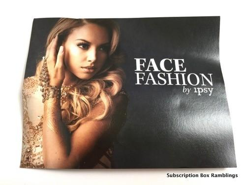 """ipsy September 2015 Subscription Review - """"Face Fashion"""""""