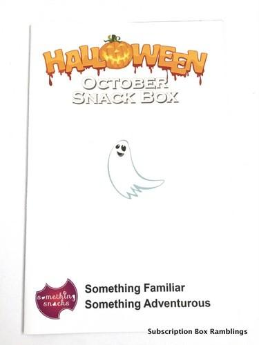 Something Snacks October 2015 Subscription Box Review