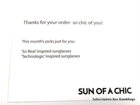 Sun of a Chic October 2015 Subscription Box Review + Coupon Code