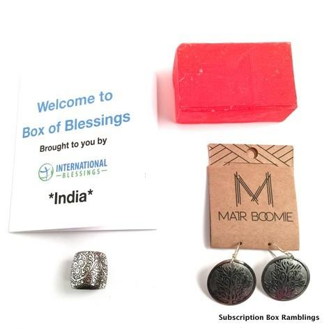 International Box of Blessings November 2015 Subscription Box Review