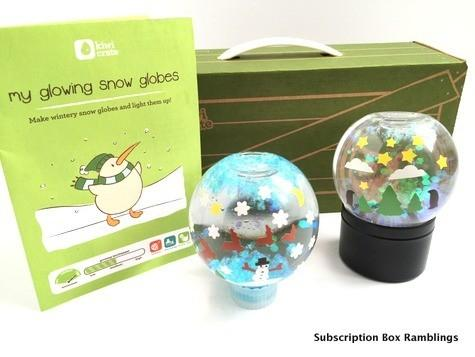 """Kiwi Crate """"Glowing Snow Globe"""" Holiday Crate Review + Coupon Code"""