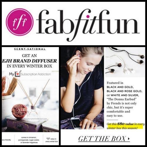 FabFitFun Winter 2015 Spoiler #2 + Coupon Code!