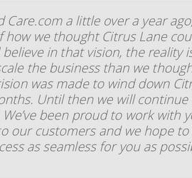 Citrus Lane - Ending Their Subscription Service