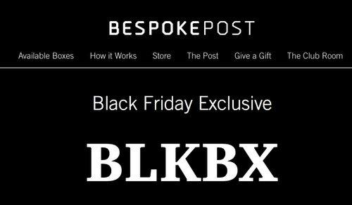 LAST DAY: Bespoke Post Black Friday Sale – Free Black Box with $45+ Purchase