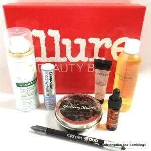 Allure Beauty Box Review – December 2015
