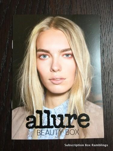 Allure Beauty Box January 2016 Subscription Box Review