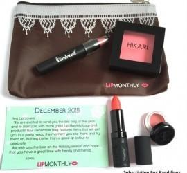 Lip Monthly December 2015 Subscription Box Review + Coupon Code