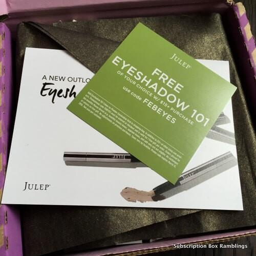 Julep February 2016 Subscription Box Review + Coupon Codes