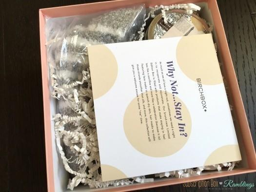 Birchbox Quot Why Not Stay In Quot Limited Edition Box Review