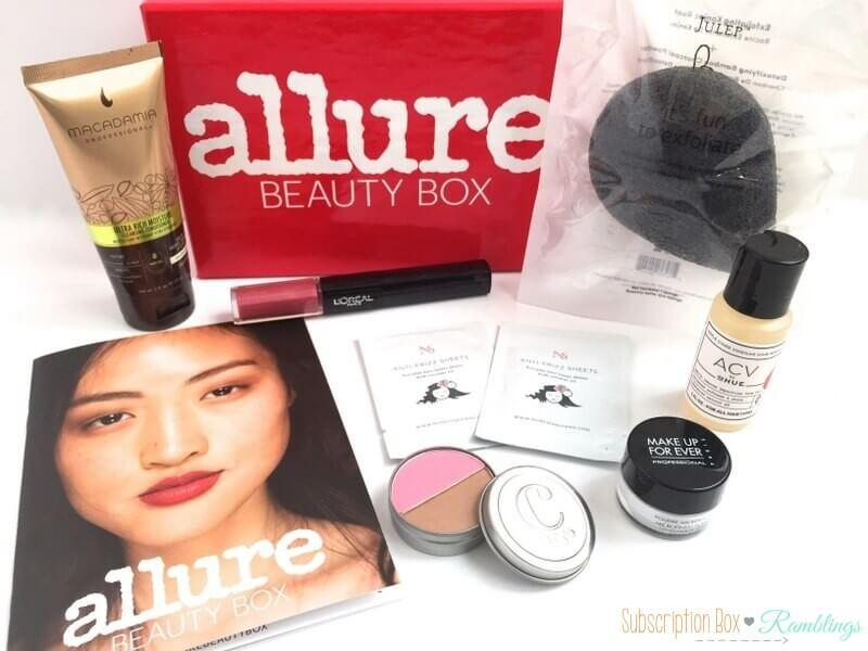 Allure Beauty Box Review – March 2016