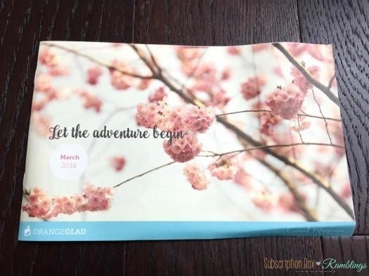 Orange Glad March 2016 Subscription Box Review + Coupon Code