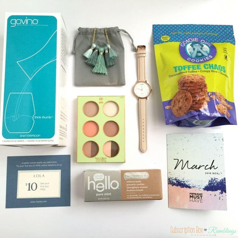POPSUGAR Must Have Box Review + Coupon Code – March 2016