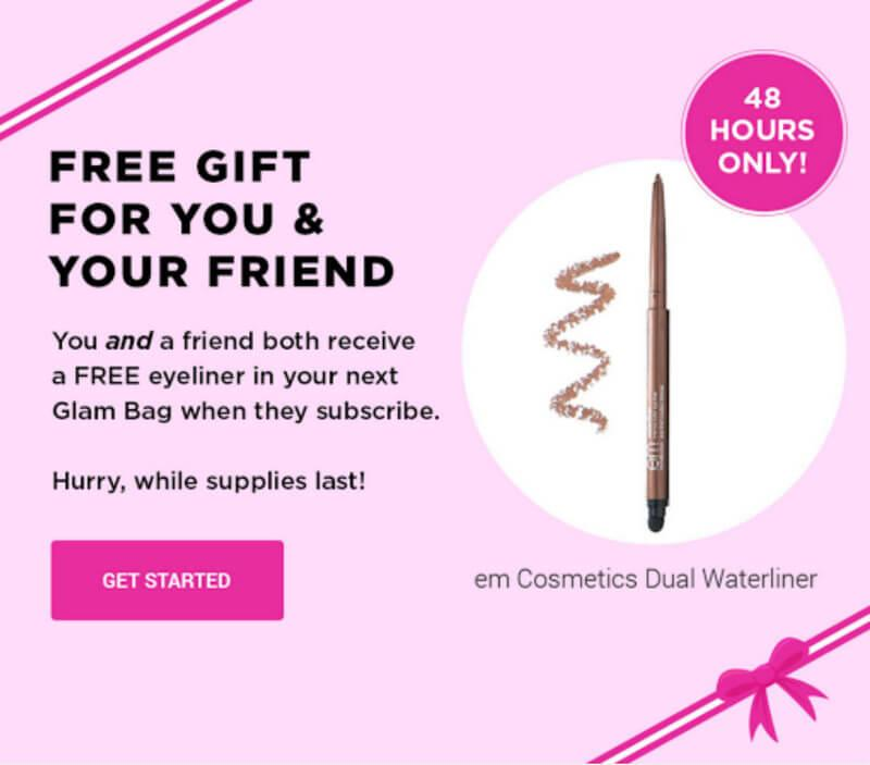 ipsy Free em Cosmetics Eyeliner with New Subscription Purchase ...