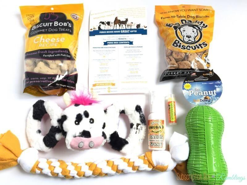 pooch perks box best pet subscription box