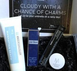 """BOXYCHARM April 2016 Subscription Box Review - """"Cloudy With a Chance of Charms"""""""