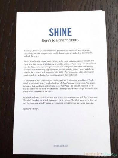 """Bespoke Post May 2016 Subscription Box Review - """"Shine"""""""